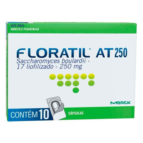 Floratil AT 250mg 10 Cápsulas Gelatinosas