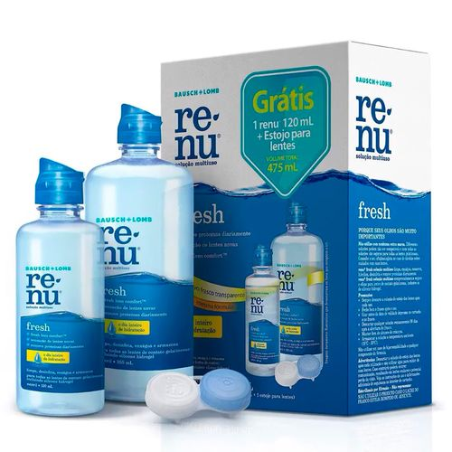 Kit Renu Fresh 355ml + 120ml + Estojo para Lentes