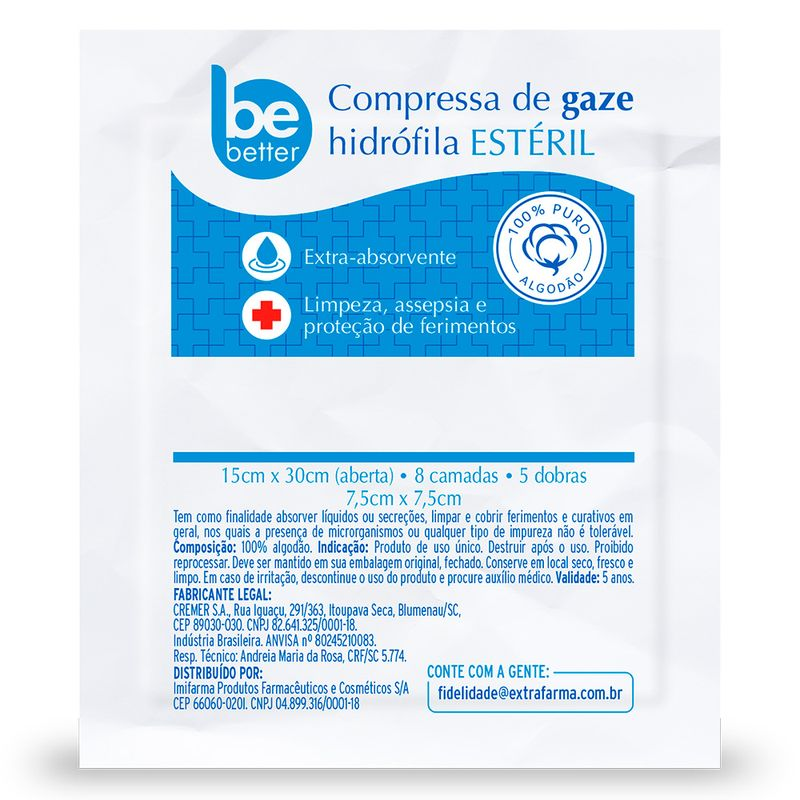 COMPRESSA-ESTERIL-BE-BETTER-ETO-13-FIOS-75X75CM-COM-10-UNIDADES