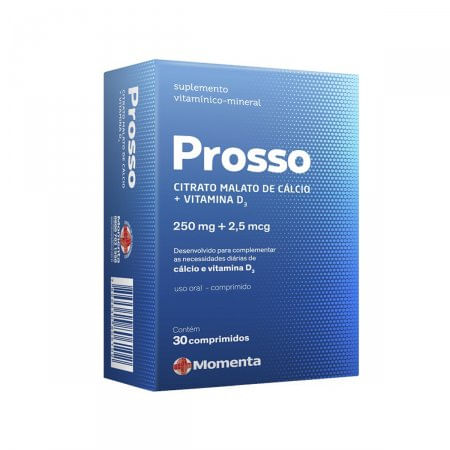Prosso 30 Comprimidos 250mg/2,5mg