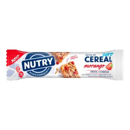 Barra de Cereal Nutry Zero Morango 22g
