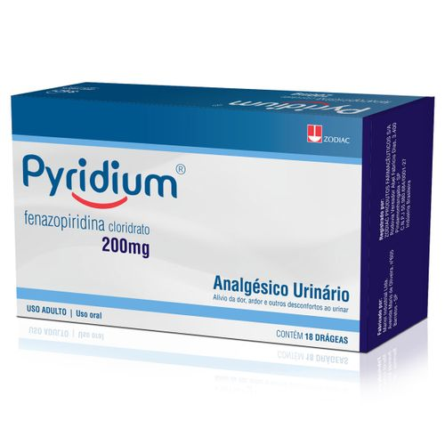 Pyridium 18 Comprimidos 200mg