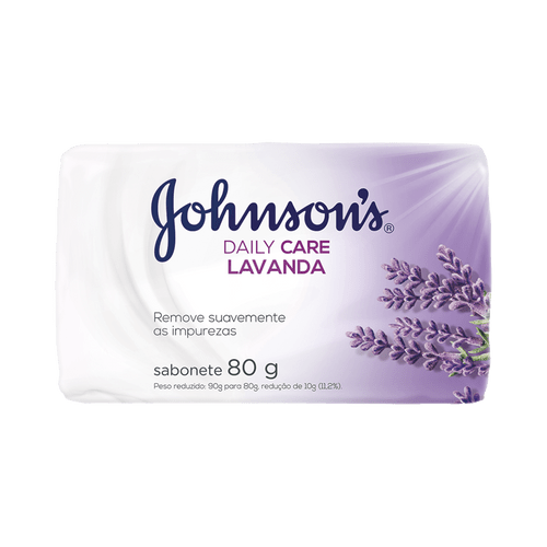 Sabonete em Barra Johnsons Daily Care Lavanda 80g