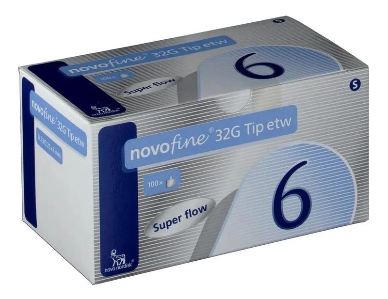 Agulha-NovoFine-Descartavel-32G-6mm-100-Unidades