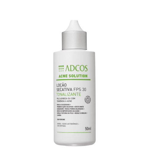 Loção Secativa Tonalizante Adcos Acne Solution FPS 30 50ml