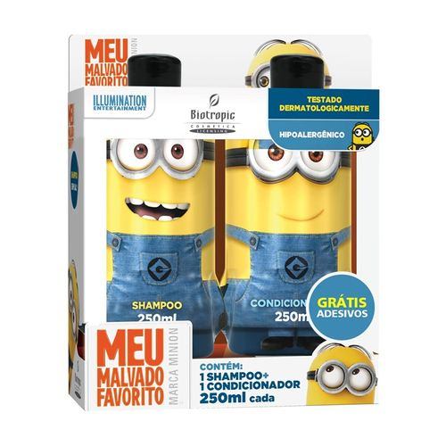 Kit Biotropic Minions Shampoo 250ml Condicionador 250ml