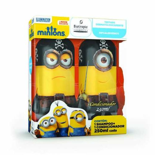 Kit Biotropic Minions Pirata Shampoo 250ml Condicionador 250ml