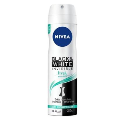 Desodorante Aerossol Nivea Feminino Invisible For Black & White Fresh 150ml