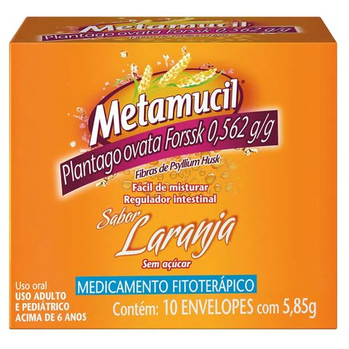 Metamucil Laranja 10 Envelopes de 5,85g