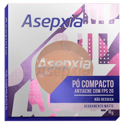 Pó Compacto Asepxia Bege Claro FPS20 10g