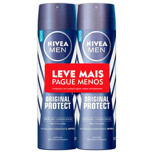 Kit Desodorante Masculino Nivea Men Original Protect 150ml 2 Unidades