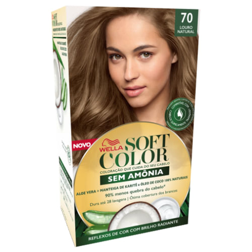 Tonalizante Wella Soft Color Nº 70 Louro Natural 1 Unidade