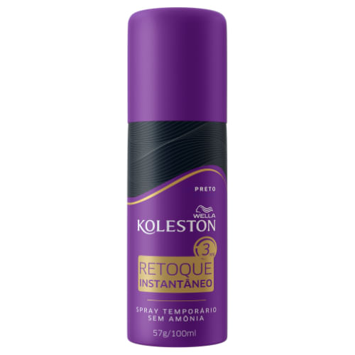 Tintura Spray Wella Koleston Retoque Raiz Instantâneo Preto 100ml