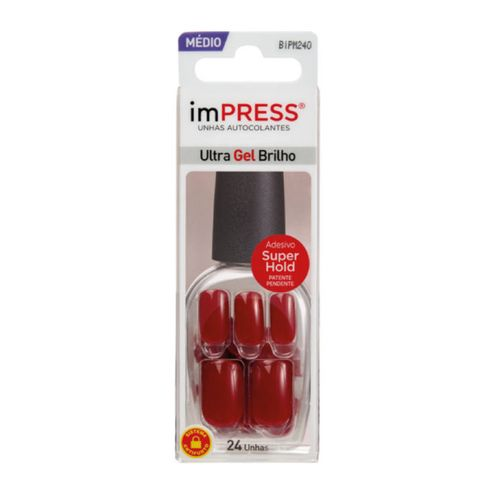 Unhas Autocolantes Kiss New York imPRESS Média Message Me 24 Unidades