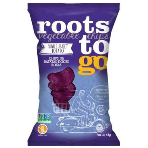 Snack Roots to Go Chips de Batatas-Doces Roxas 45g