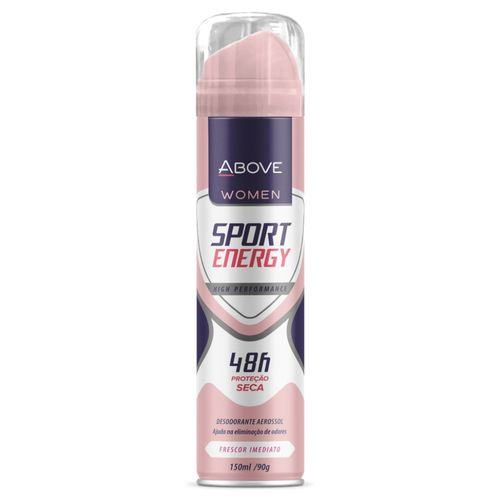Desodorante Antitranspirante Aerosol Above Women Sport Energy 150ml