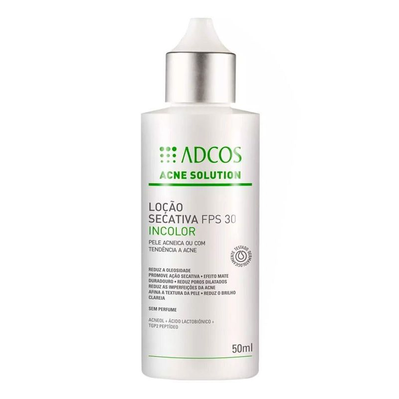 Locao-Secativa-Adcos-Acne-Solution-Incolor-FPS30-50ml